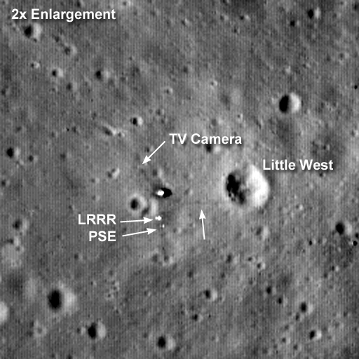Closeup of the Apollo 11 Landing Site